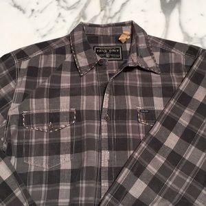 True Grit Corduroy Plaid Shirt XL